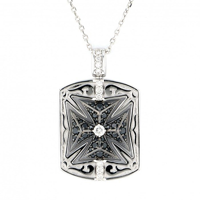 Rotating cross necklace