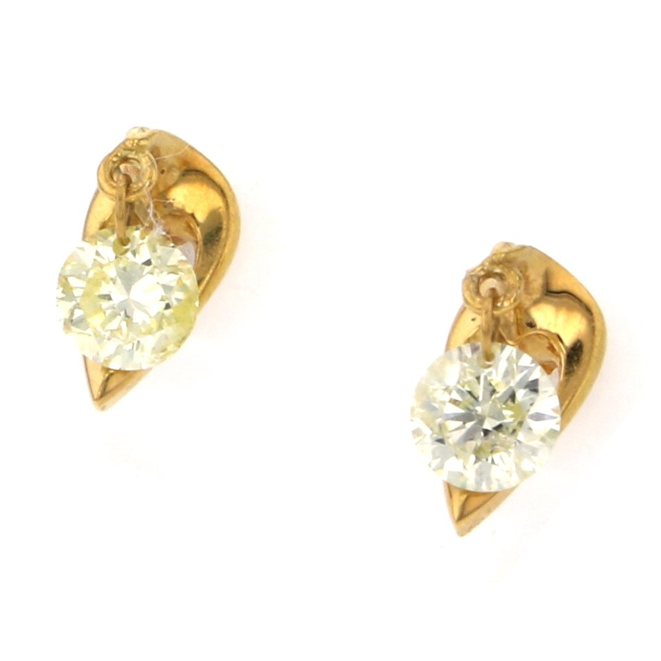 Yukizaki Select Jewelry YUKIZAKI SELECT JEWELRY Earrings Yellow Gold diamond Earrings New product jewelry