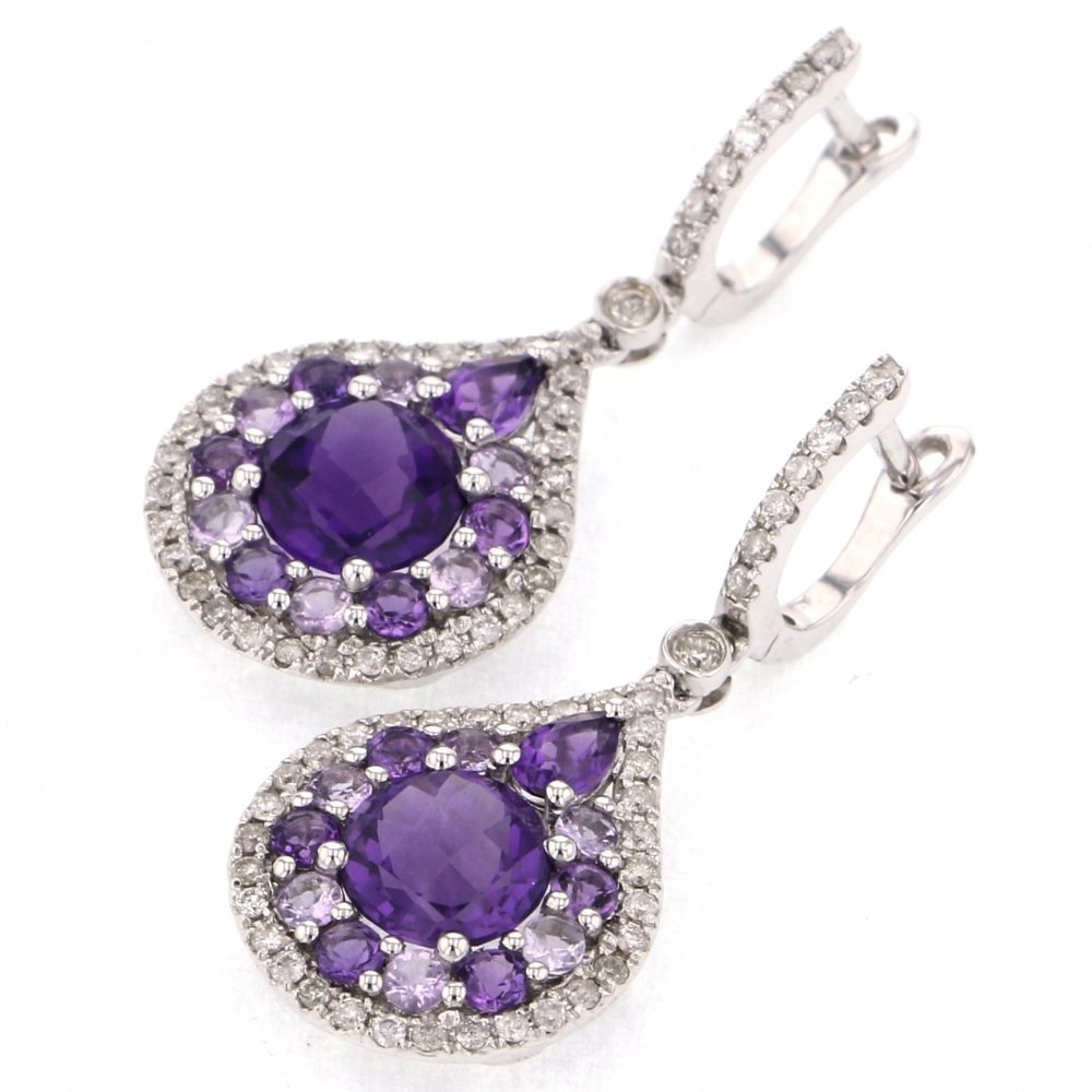 Yukizaki Select Jewelry YUKIZAKI SELECT JEWELRY Earrings White Gold Amethyst Earrings New product jewelry
