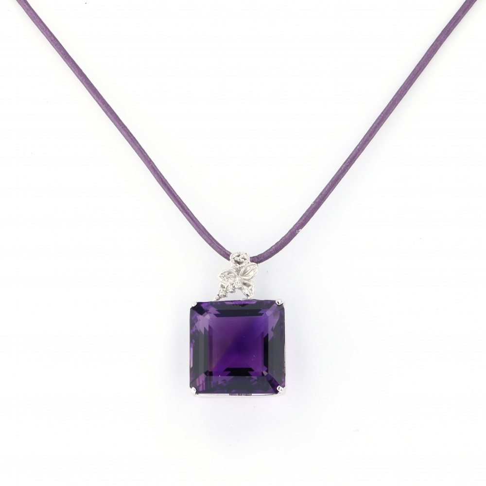 Yukizaki Select Jewelry YUKIZAKI SELECT JEWELRY Necklace / pendant K18WG amethyst necklace USED jewelry