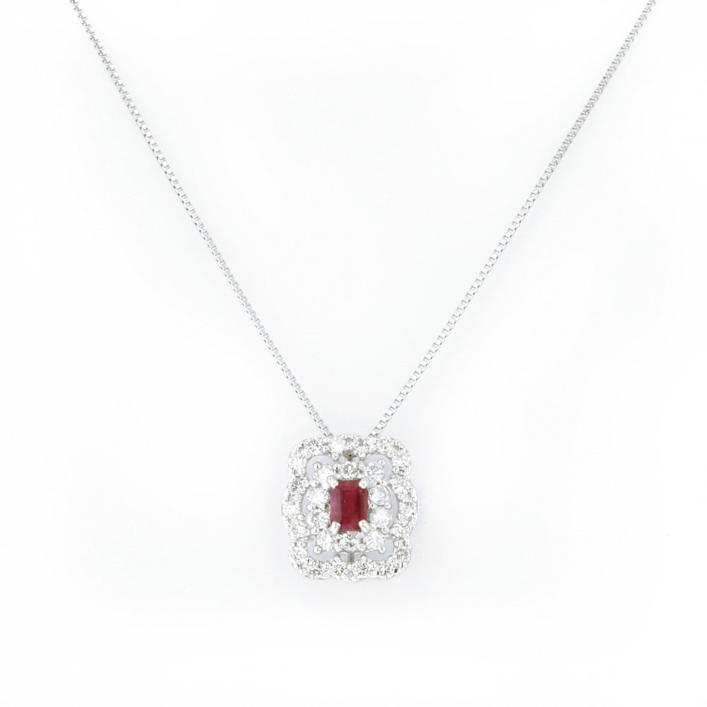 Yukizaki Select Jewelry YUKIZAKI SELECT JEWELRY Necklace / pendant platinum Red beryl necklace - New product jewelry