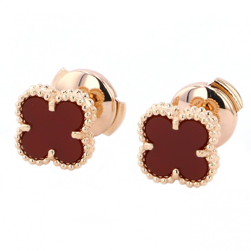 Van Cleef & Arpels From Cleef & Arpels Earrings Sweet Alhambra Carnelian USED jewelry