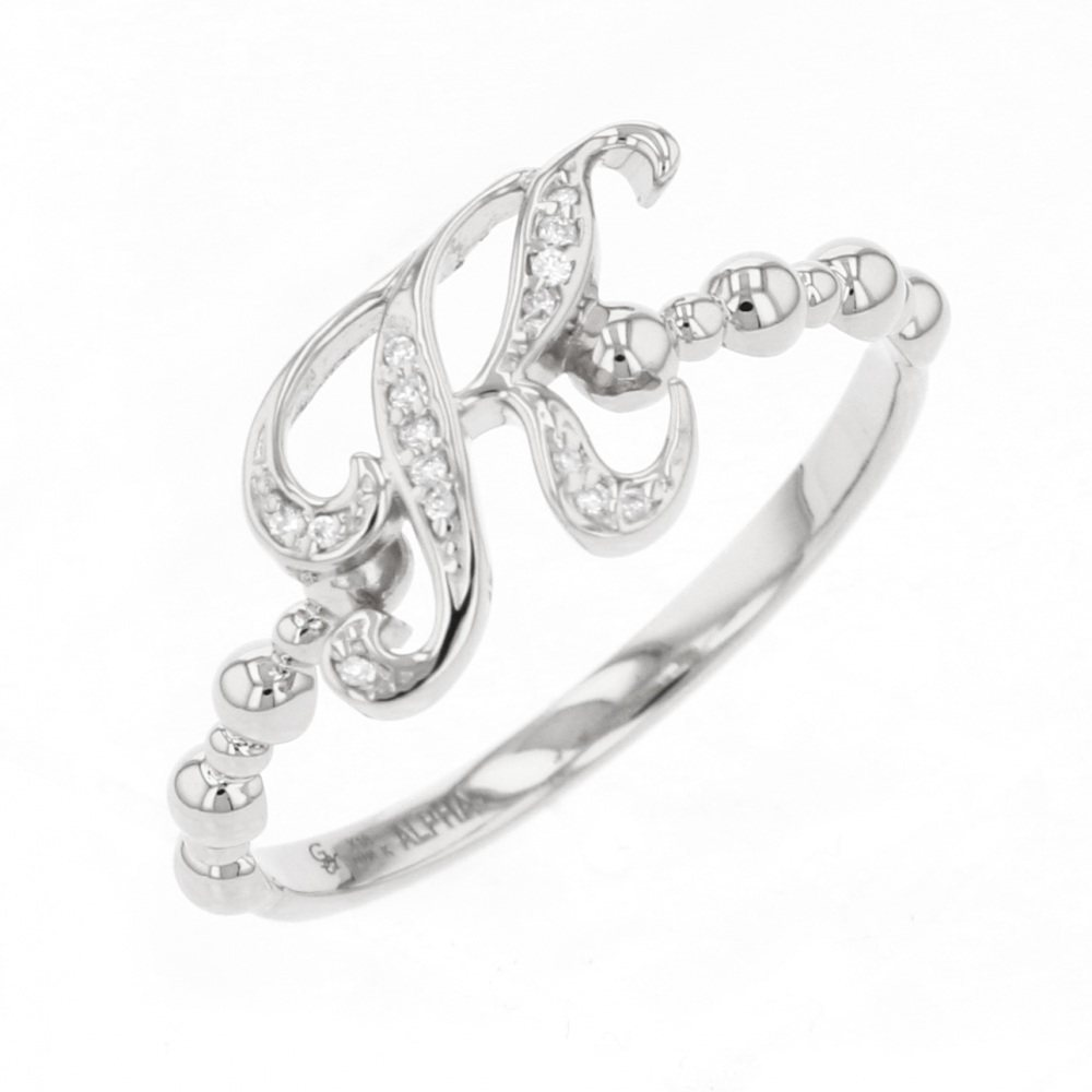 Nomble NOMBRE alpha Petit ring Initial ring [K] [Genuine] Y.ALPHA.PUTIT.1.9.K New product jewelry