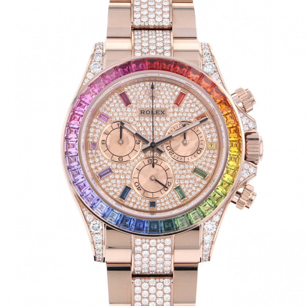 Rolex ROLEX Daytona Rainbow Pave Diamond 116595RBOW Full diamond dial New product Watch mens