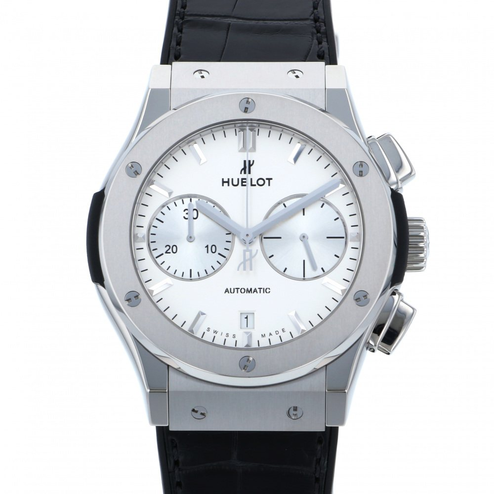 HUBLOT HUBLOT Classic fusion Titanium Chronograph Opalin 521.NX.2611.LR Silver dial New product Watch mens
