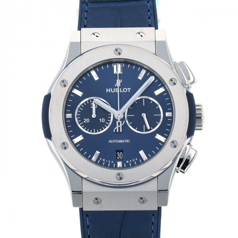 HUBLOT HUBLOT Classic fusion Titanium Chronograph 541.NX.7170.LR Blue dial New product Watch mens