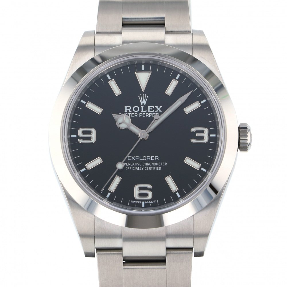 Rolex ROLEX Explorer I 214270 Black dial New product Watch mens