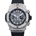 HUBLOT HUBLOT big Bang Unico Titanium diamond 411.NX.1170.RX.1104 USED Watch mens