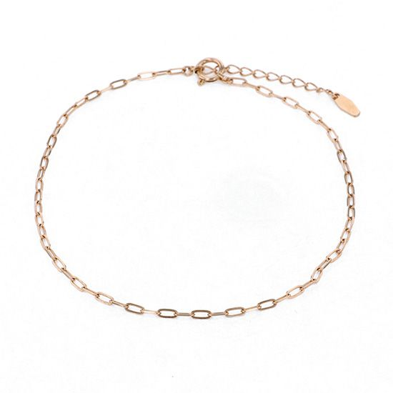 chain anklet チェーン アンクレット ピンクゴールド -