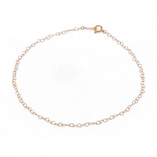 chain anklet chain anklet Pink gold Corner Love0.25 / Approximately 23cm -