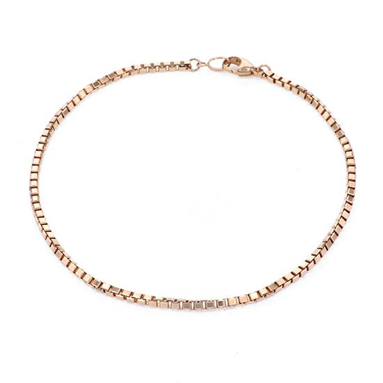 chain anklet chain anklet Pink gold Venetian Six 2.4 / Approximately 25cm -