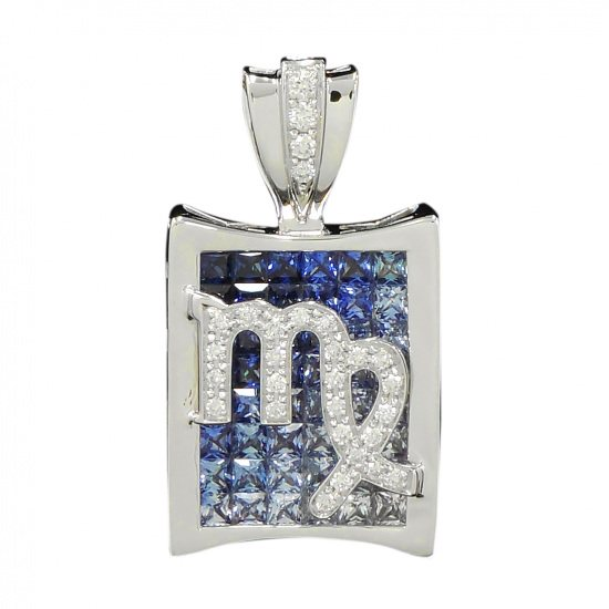 horoscope necklace_pendant horoscope Necklace / pendant Constellation pen head [Virgo] Blue [Regular] h0823.12.9.14