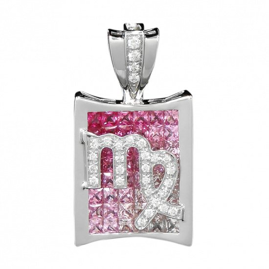 horoscope necklace_pendant horoscope Necklace / pendant Constellation pen head [Virgo] Pink [Regular] h0823.12.9.11