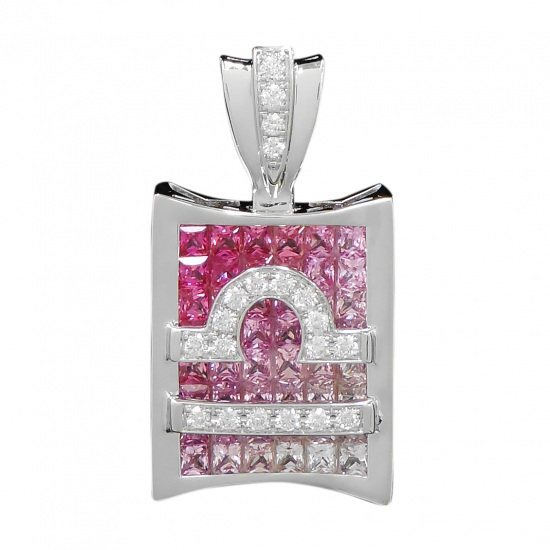 horoscope necklace_pendant horoscope Necklace / pendant Constellation pen head [Libra] pink [genuine] h0923.12.9.11