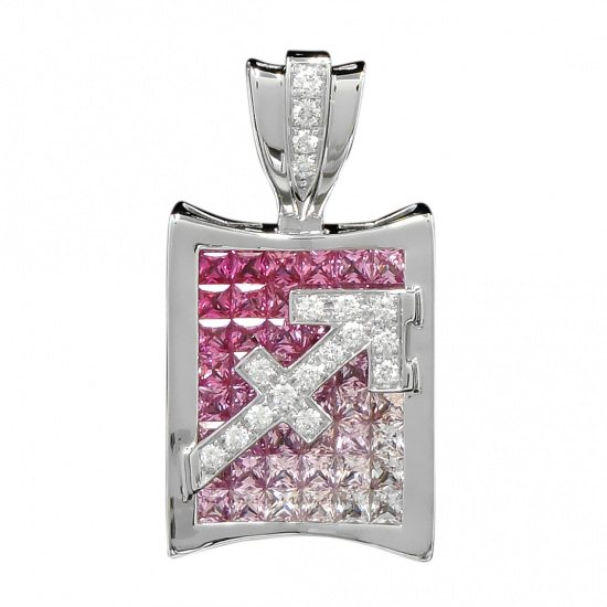 horoscope necklace_pendant horoscope Necklace / pendant Constellation pen head [Sagittarius] pink [genuine] h1123.12.9.11