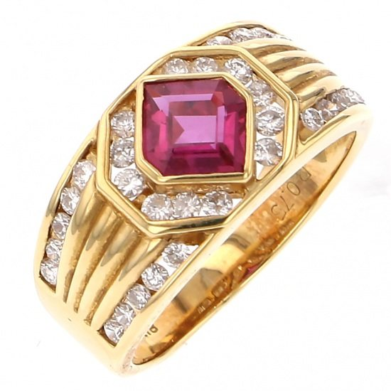Yukizaki Select ring Yukizaki Select Jewelry ring K18YG Ruby ring -