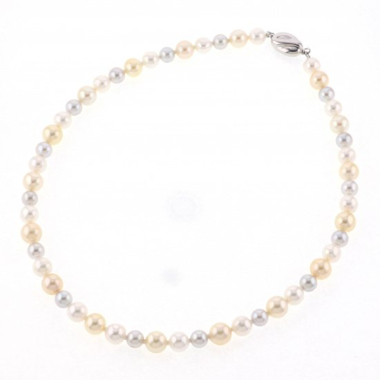 pearl necklace パール ネックレス コバルト パール ネックレス -