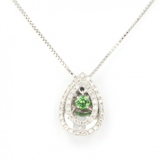 Yukizaki Select necklace_pendant Yukizaki Select Jewelry Necklace / pendant platinum Demantoid Garnet necklace -