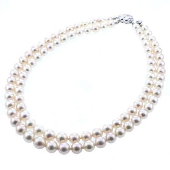 pearl necklace Pearl necklace White Gold Nanyou Pearl necklace -