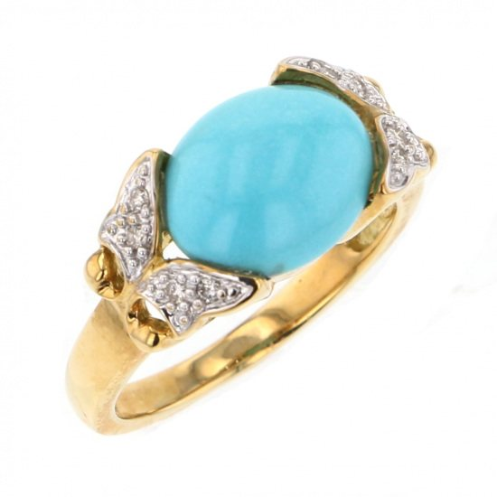 Yukizaki Select ring Yukizaki Select Jewelry ring Yellow Gold Turquoise ring -