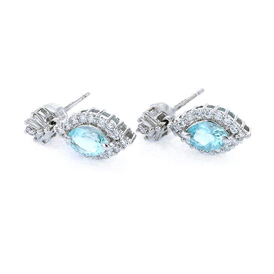Yukizaki Select piercing_earrings Yukizaki Select Jewelry Earrings White Gold Paraiba tourmaline Earrings -