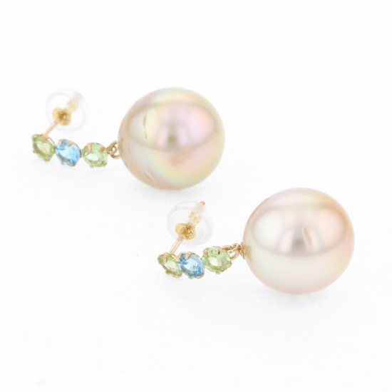 pearl piercing_earrings Pearl Earrings Yellow Gold Pearl Earrings -