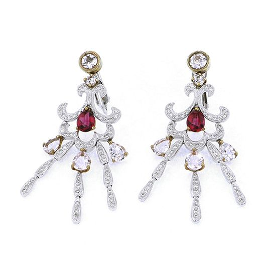 Yukizaki Select piercing_earrings Yukizaki Select Jewelry Earrings Yellow gold / white gold Tourmaline Earrings -