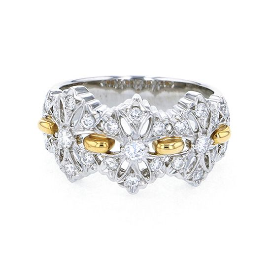 Yukizaki Select ring Yukizaki Select Jewelry ring Platinum / yellow gold diamond ring -