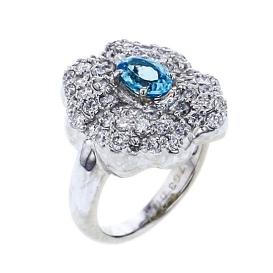 Yukizaki Select ring Yukizaki Select Jewelry ring platinum Paraiba tourmaline ring -