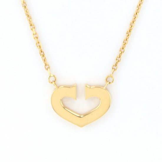 cartier necklace_pendant Cartier Necklace / pendant Yellow Gold C heart necklace -