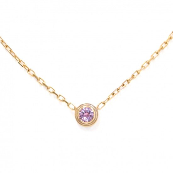 cartier necklace_pendant Cartier Necklace / pendant Pink gold Diaman Leger necklace -