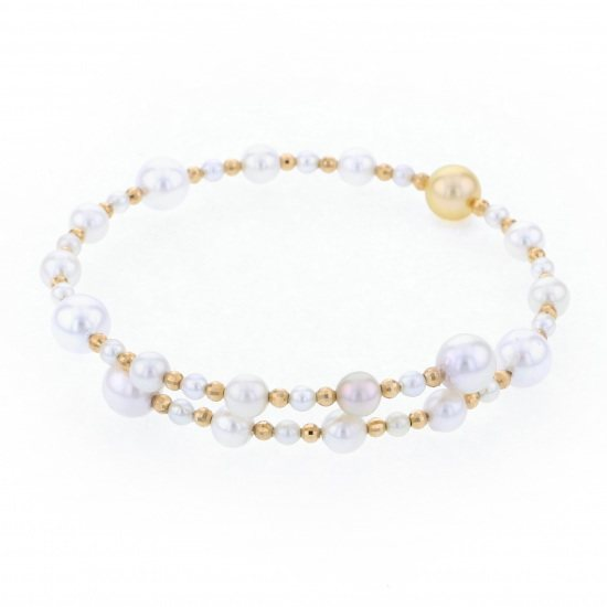Yukizaki Select bracelet Yukizaki Select Jewelry bracelet Yellow Gold Pearl bracelet -