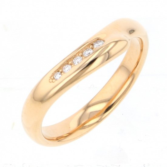 tiffany ring Tiffany ring Pink gold open heart Band ring -