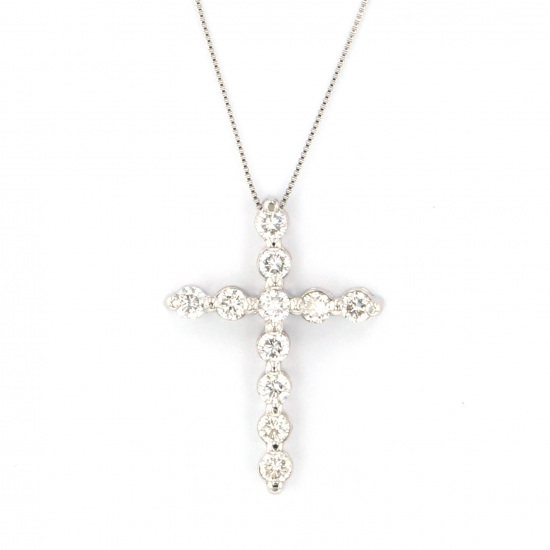 Yukizaki Select necklace_pendant Yukizaki Select Jewelry Necklace / pendant platinum diamond cross necklace -
