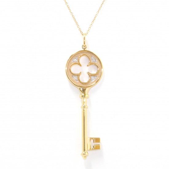 tiffany necklace_pendant Tiffany Necklace / pendant Yellow Gold Clover key necklace -