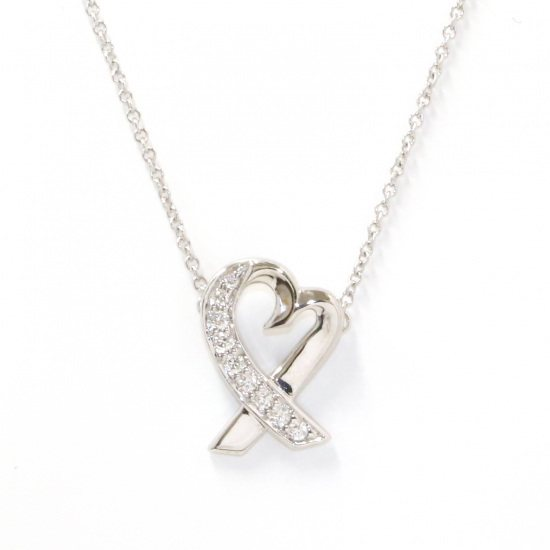 tiffany necklace_pendant Tiffany Necklace / pendant White Gold Loving heart necklace -