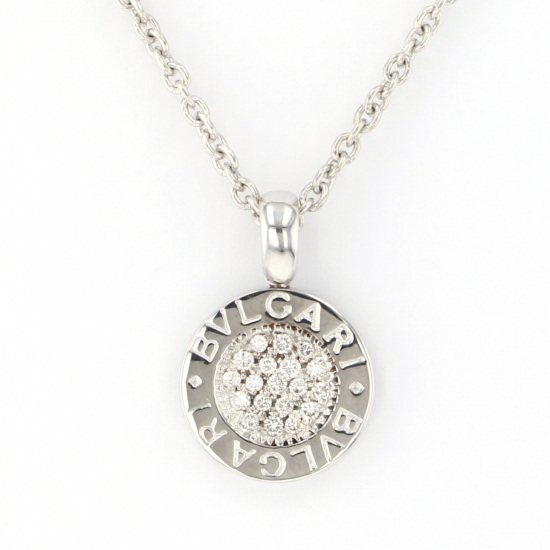 bvlgari necklace_pendant BVLGARI Necklace / pendant Bulgari Bulgari Pavé diamonds necklace -