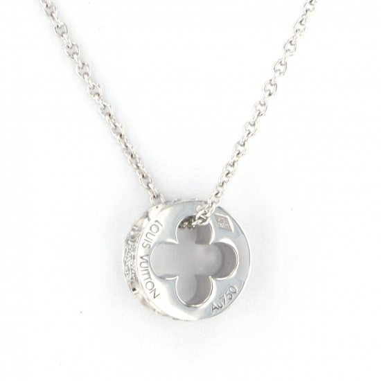 louisvuitton necklace_pendant Louis Vuitton Necklace / pendant White Gold Pandantiff necklace -