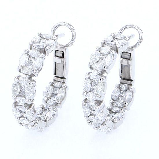ユキザキセレクトジュエリー プラチナ ダイヤモンドピアス 3.110ct