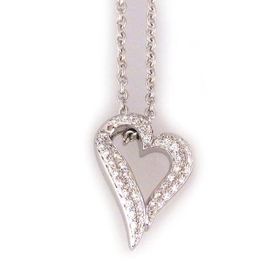 boucheron necklace_pendant Boucheron Necklace / pendant Heart Pave Diamond B Collection -
