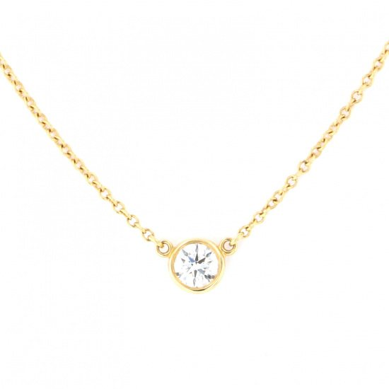 tiffany necklace_pendant Tiffany Necklace / pendant Yellow Gold Beazard necklace -