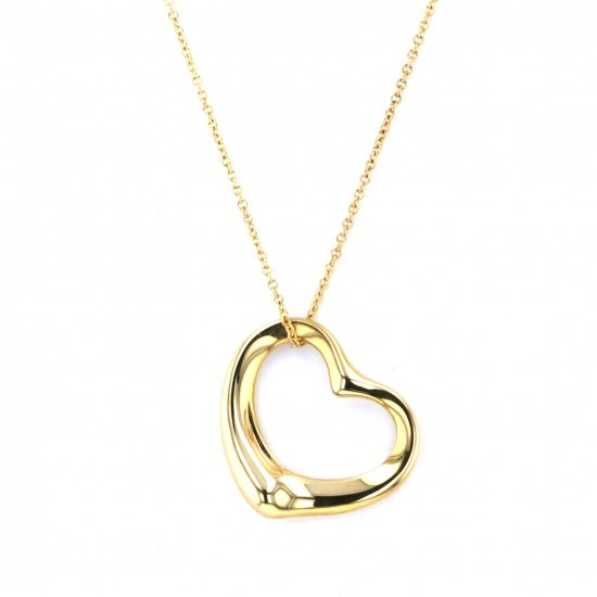 tiffany necklace_pendant Tiffany Necklace / pendant Open heart necklace -