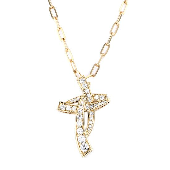 yukizaki necklace_pendant Snowy Necklace / pendant Yellow Gold Cross necklace w50146.2.6