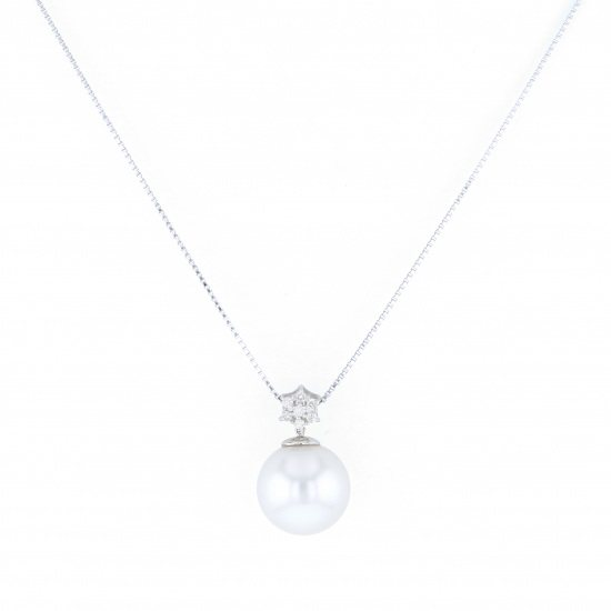 pearl necklace_pendant Pearl Necklace / pendant White Gold Pearl necklace -