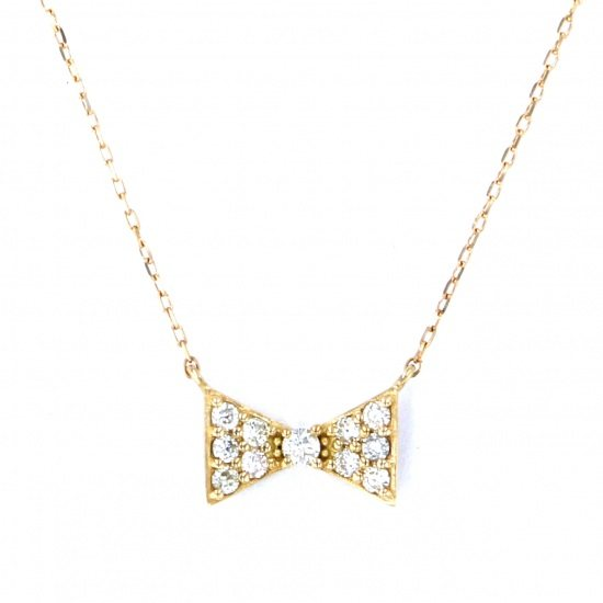 Yukizaki Select necklace_pendant Yukizaki Select Jewelry Necklace / pendant Yellow Gold diamond ribbon -