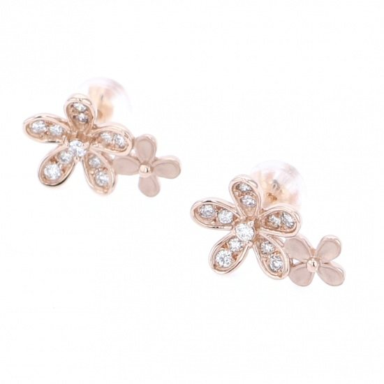 Yukizaki Select piercing_earrings Yukizaki Select Jewelry Earrings Pink gold diamond -