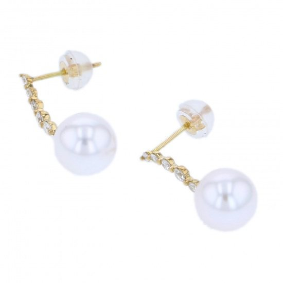Yukizaki Select piercing_earrings Yukizaki Select Jewelry Earrings Yellow Gold Akoya pearl -