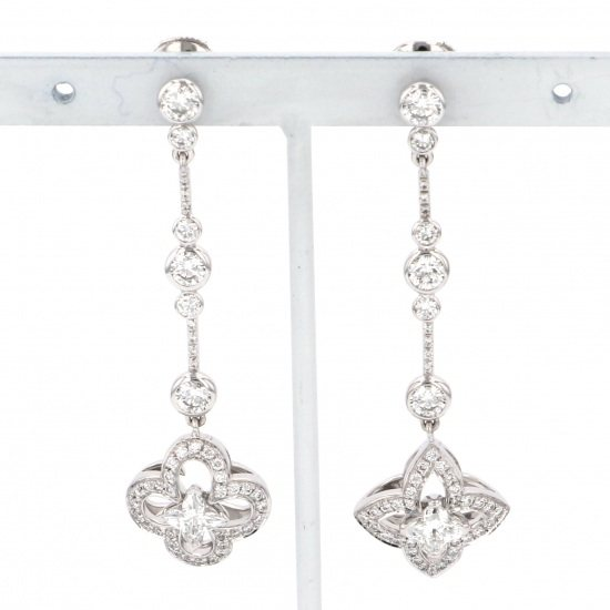 louisvuitton piercing_earrings Louis Vuitton Earrings White Gold Bookle Dreille Aldant Earrings q96149