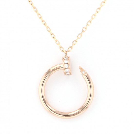cartier necklace_pendant Cartier Necklace / pendant Pink gold Just ankle diamond necklace b7224513