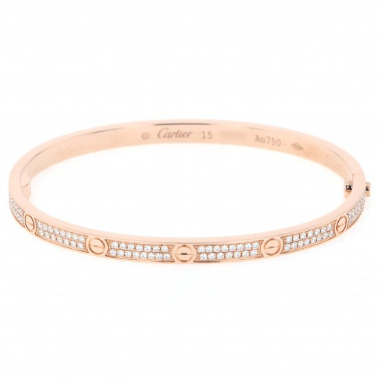 cartier bracelet Cartier bracelet Pink gold Love breath Pavé diamonds n6036917